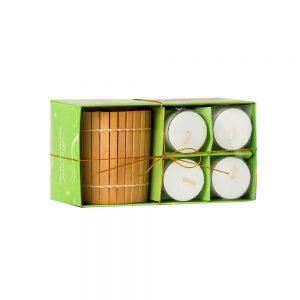 Hộp Nến Ly Bamboo Tealight NQM2035
